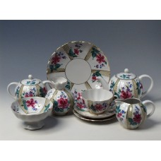"""Сервиз чайный """"Оранжерея"""" форма """"Тюльпан"""" на 6 персон 20 предметов."""