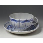 """Чашка с блюдцем чайная """"Паутинка"""" форма """"Тюльпан"""""""
