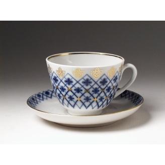 """Чашка с блюдцем чайная """"Снежинка"""" форма """"Весенняя"""""""
