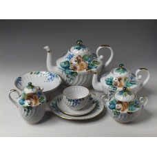 """Сервиз чайный """"В саду"""" форма """"Витая"""" на 6 персон 22 предмета"""