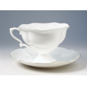 "Чашка с блюдцем чайная ""Золотая лента"" Форма ""Наташа"""
