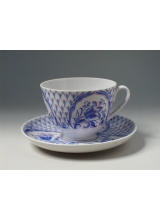 """Чашка с блюдцем чайная """"Синяя птица"""" форма """"Весенняя"""""""