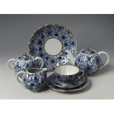 """Сервиз чайный """"Вьюнок"""" форма """"Тюльпан"""" на 6 персон 20 предметов"""