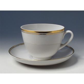 """Чашка с блюдцем чайная """"Белоснежка"""" форма """"Весенняя""""."""