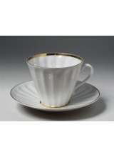 """Чашка с блюдцем чайная """"Белоснежка"""" форма """"Лучистая"""""""