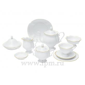 """Сервиз чайный """"Золотая лента"""" форма """"Наташа"""" на 6 персон 30 предметов"""