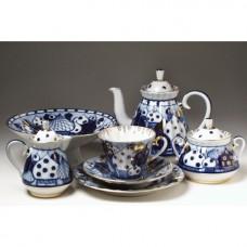 """Сервиз чайный """"Перезвоны"""" форма """"Лучистая"""" на 6 персон 14 предметов."""