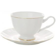 """Чашка с блюдцем чайная """"Золотая лента"""" Форма """"Нега"""""""