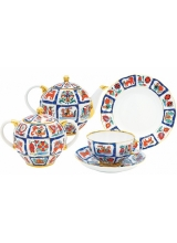"""Сервиз чайный """"Русский лубок"""" форма """"Тюльпан"""" на 6 персон 20 предметов"""