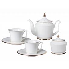 """Сервиз чайный """"Золотая лента"""" форма """"Юлия"""" на 6 персон 14 предметов"""