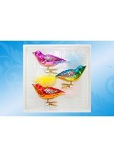 """""""Птички"""" набор формовых игрушек из стекла"""