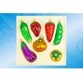 """""""Овощи"""" набор формовых игрушек из стекла"""