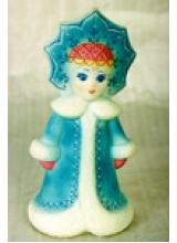 """Кукла новогодняя """"Снегурочка в кокошнике"""" ПВХ Н=20см"""