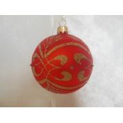 Стеклянные шары D=80-85 мм с ручной росписью в индивидуальной упаковке
