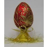 """Яйцо """"Пасхальное"""" стеклянное на подставке"""