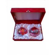 Подарочные наборы шаров D=100мм с художественной росписью